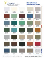 Drexmet® High Performance Metal Roofing Finishes - Drexel Metals ...