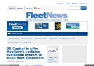 GE Capital to offer Mobileye's collision avoidance system to truck ...
