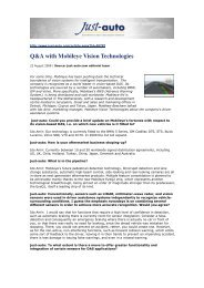 Q&A with Mobileye Vision Technologies