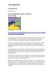 TECHNOLOGY For the Multitasking Motorist, a Third Eye ... - Mobileye