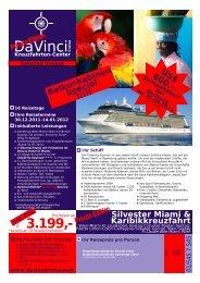 Silvester Miami & Karibikkreuzfahrt - DaVinci Cruise