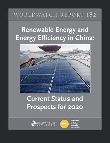 Renewable Energy and Energy Efficiency in China - Worldwatch ...