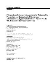 Primary Care Relevant Interventions for Tobacco Use Prevention ...
