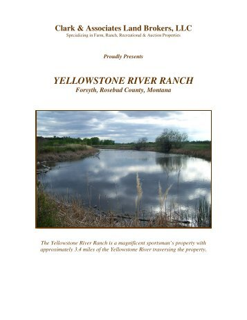 yellowstone river ranch - Clark & Associates Land Brokers, LLC