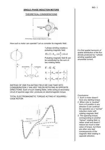 1-phase induction motors