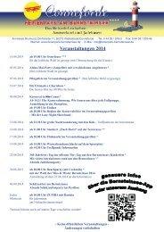 Veranstaltungen 2013 - Ferienpark am Bernsteinsee