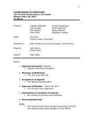 ILCWR Board of Directors Meeting Minutes, April 18, 2011