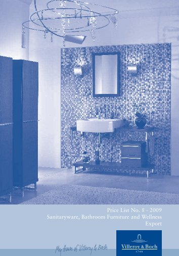 Price List No. 8 - 2009 Sanitaryware, Bathroom Furniture and ...