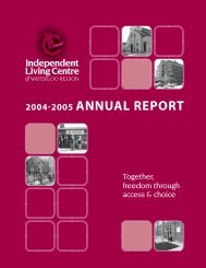 2004-2005 annual report - Independent Living Centre of Waterloo ...