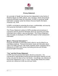 to download the Privacy Statement (PDF Format) - Independent ...