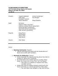 ILCWR Board of Directors Meeting Minutes, October 25, 2010