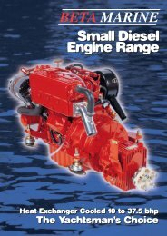 Small Diesel Engine Range - Beta Marine