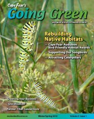 Rebuilding Native Habitats - Cape Fear's Going Green