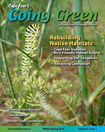 Rebuilding Native Habitats - Cape Fear's Going Green