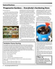 Progressive Gardens - Cape Fear's Going Green