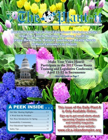 Participate In The 2011 Grass Roots - CLCA Inland Empire Chapter