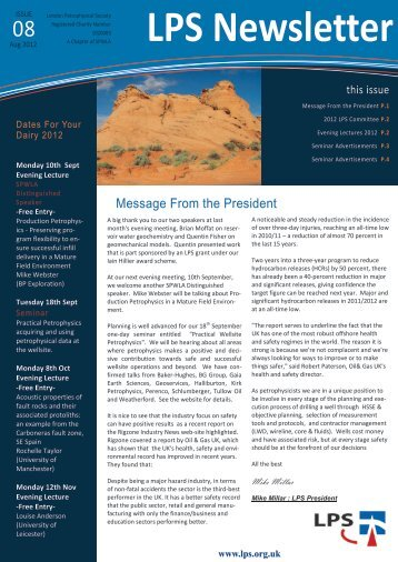 Download August 2012 Newsletter - London Petrophysical Society