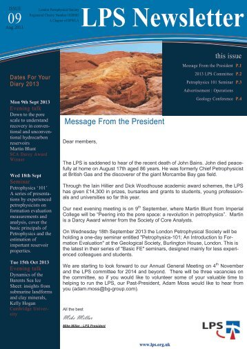 Download September 2013 Newsletter - London Petrophysical Society