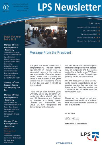 Download February 2012 Newsletter - London Petrophysical Society