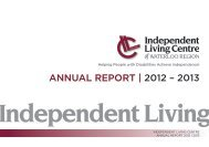 annual report | 2012 – 2013 - Independent Living Centre of Waterloo ...