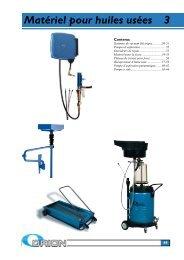 Matériel pour huiles usées 3 - Alentec & Orion AB