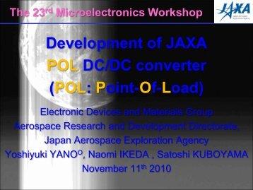 Development of JAXA POL DC/DC converter