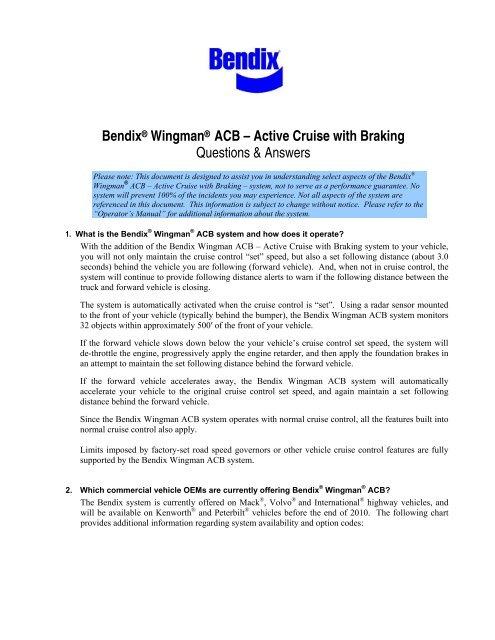 Download Bendix Wingman Acb Active Cruise With Braking