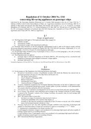 Regulation of 11 October 2004 No. 1341 concerning life-saving ...