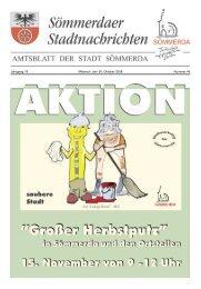 Jahrgang 18 Mittwoch, den 29. Oktober 2008 Nummer 44 - Sömmerda