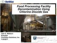 Food Processing Facility Decontamination