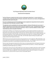 Special Events Application for City Parks & Property - City of Poquoson