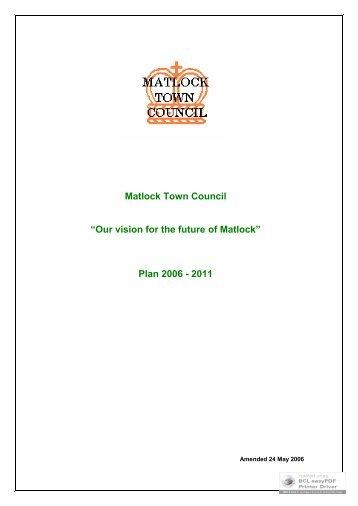 Agendas - Matlock Town Council