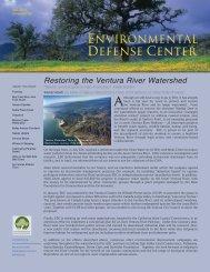Restoring the Ventura River Watershed - Environmental Defense ...