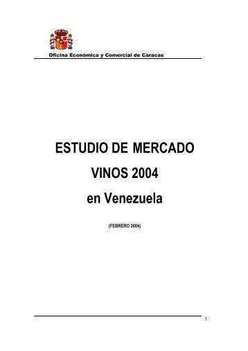 ESTUDIO DE MERCADO VINOS 2004 en Venezuela