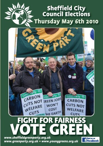 See the full election leaflet - Sheffield Green Party