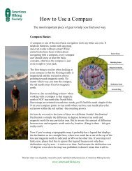How to Use a Compass fact sheet.pdf - American Hiking Society