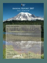 2007 Annual Report - American Hiking Society