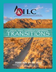 annual tribal leadership conference - American Indian Law Center