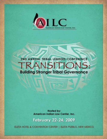dowload final conference program - American Indian Law Center