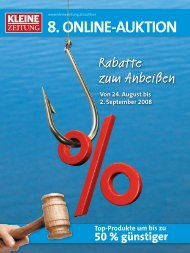 8. ONLINE-AUKTION - Online-Auktion der Salzburger Nachrichten ...