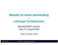 Metoder for bedre samhandling – erfaringer fra Semicolon
