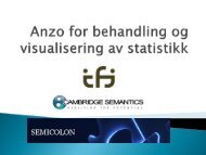 Anzo for behandling og visualisering av statistikk - Semicolon