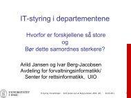 IT-styring i departementene - Semicolon