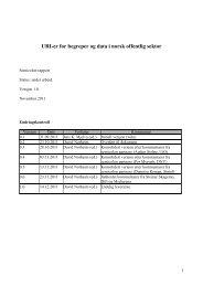 URI-er for begreper og data i norsk offentlig sektor - Semicolon