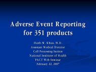 Adverse Event Reporting for 351 products