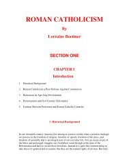 ROMAN CATHOLICISM - Total Love In Christ Ministries