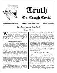 The Sabbath or Sunday