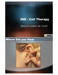 IND Cell therapy_R. Lindblad - The EMMES Corporation