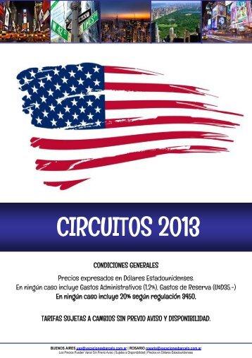 Estados Unidos Circuitos | Tarifas