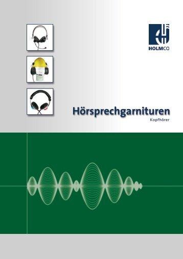 Einseitige Hörsprechgarnituren - HOLMCO - Holmberg Elektroakustik